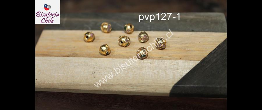 Perla española dorada de 6 mm, set de 8 unidades