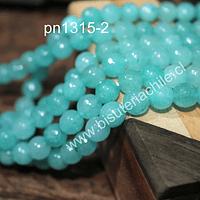 Agata de 8 mm en tono jade, tira de 48 piedras aprox