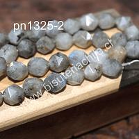 Labradorita  Facetada corte hexagonal, 8 mm, tira de 20 unidades