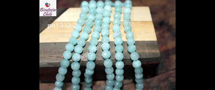 Agata de 6 mm en tono jade tira de 60 piedras aprox