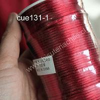 Cola de ratón burdeo (rojo oscuro) rollo de 100 mts, 2 mm de grosor.
