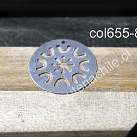 Colgante baño de plata, 25 mm de diámetro, por unidad