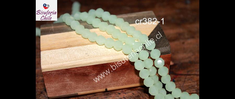 Cristal redondo de 8 mm, color verde agua, tira de 38 cristales aprox