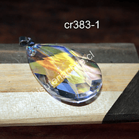 Colgante cristal en forma de gota 50 mm de largo x 30 mm de ancho, por unidad