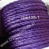 Hilo trenzado 3 mm en color morado, rollo de 23 metros