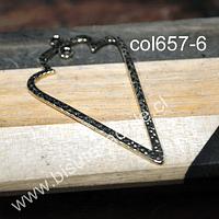 Colgante dorado, 54 mm de largo x 32 mm de ancho, set de 2 unidades