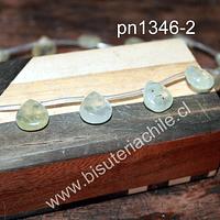Gota prehnita, 14 mm de largo x 13 mm de ancho, 5 mm de grosor, set de 9 piedras