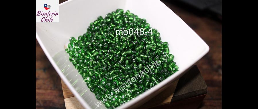 Mostacillón verde cristal, bolsa de 50 grs