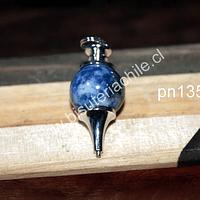 Colgante tipo péndulo de sodalita, 30 mm de largo x 15 mm de ancho, por unidad