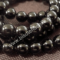 Onix negro de 8 mm, tira de 50 piedras aprox