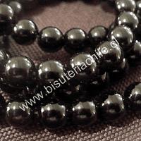Onix negro de 8 mm, tira de 48 piedras aprox