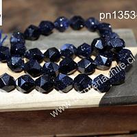Piedra estrella Facetada corte hexagonal, 10 mm, tira de 17 unidades