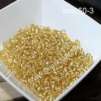 Mostacillón dorado cristal, bolsa de 50 grs