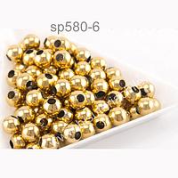 separador de acero dorado 3 mm, set de 10 unidades aprox