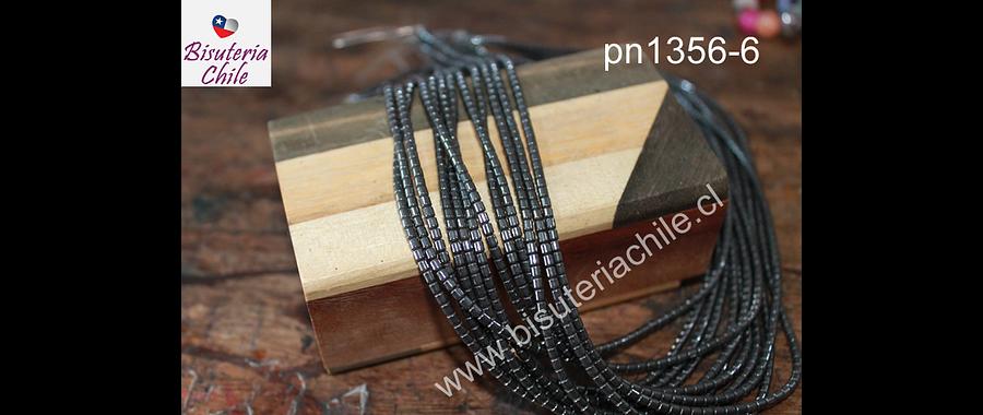 Hematite negra en forma de tubo de 2 x 2 mm tira de 160 piedras aprox