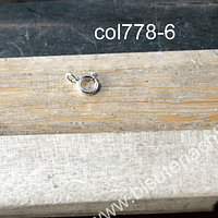 cierre de plata, 6 mm, por unidad