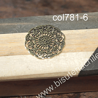 Colgante dorado, 30 mm de diámetro, por unidad