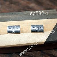 Separador con diseñoñ niño, 17 x 12 mm, agujero de 5 x 4, set de 2 unidades