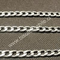 Cadena Acero Inoxidable, eslabon de 4 por 4 mm,  por metro