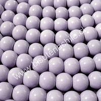 Perla de vidrio pintado 8 mm color lila tira de 110 unidades