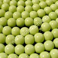 Perla de vidrio pintado 8 mm color verde limón tira de 110 unidades
