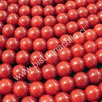 Perla de vidrio pintado 8 mm color rojo tira de 54 unidades