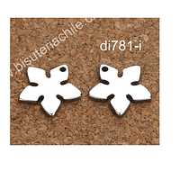 Dije acero en forma de flor 11 mm de diámetro, set de 3 unidades