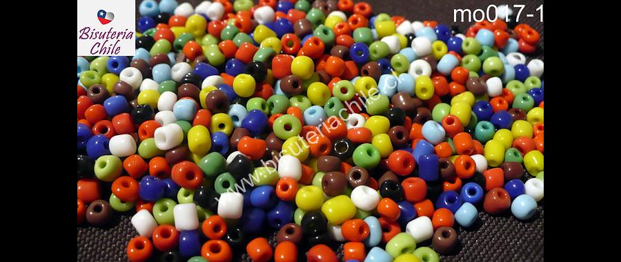 Mostacillón multicolor, bolsa de 50 grs