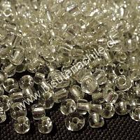 Mostacillón transparente, color cristal, bolsa de 50 grs
