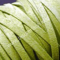 Gamuza gruesa verde pistacho, 5 mm de ancho, por metro
