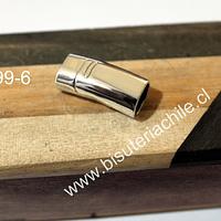 Cierre o terminal magnético, 26 ,, de largo x 11 mm de ancho, agujero de 10 x 6 mm, por unidad