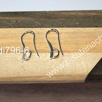 Base de aro baño de plata, 21 mm de largo, por par