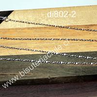Cadena de plata 925, 45 cm de largo 1 mm de ancho, por unidad