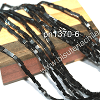Hematite negra cuadrada, 3 x 3 mm, tira de 125 piedras aprox