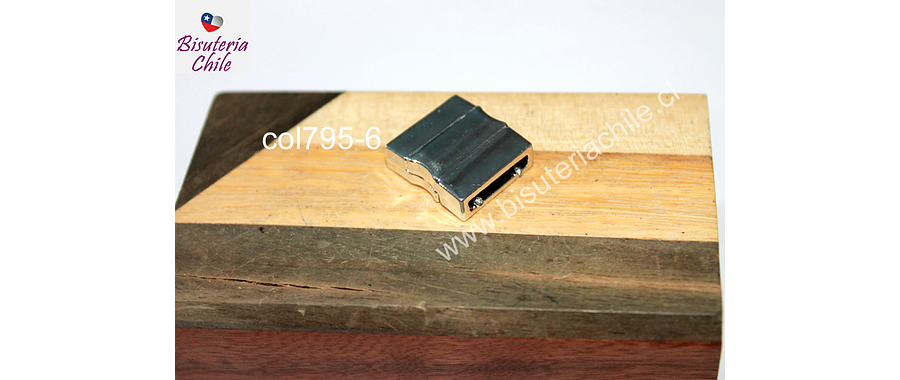 Cierre magnético, 20 x 18 mm, agujero de 15 x 3 mm, por unidad