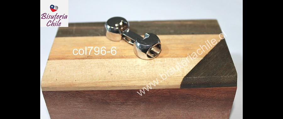 Cierre o terminal especial para cuero, 36 x 12 mm, agujero de 10 x 8 mm, por unidad