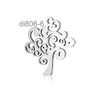 Dije de acero en forma de árbol de la vida, 20 x 20 mm, por unidad