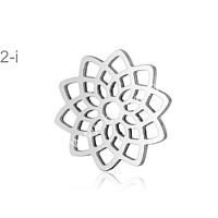 Colgante con flor de la vida de acero,  15,8 mm de diámetro, por unidad