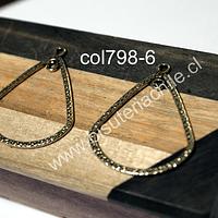 Colgante o base de aro dorado, 32 mm de ancho x 39 mm de largo, set de dos unidades
