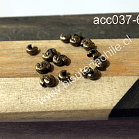 Tapanudo caracol envejecido, 4 mm set de 20 unidades
