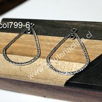 Colgante o base de aro plateado, 32 mm de ancho x 39 mm de largo, set de dos unidades
