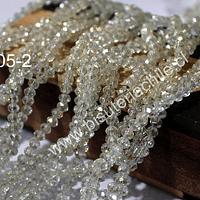 Cristal color champagne, 4 mm, tira de 148 cristales aprox.