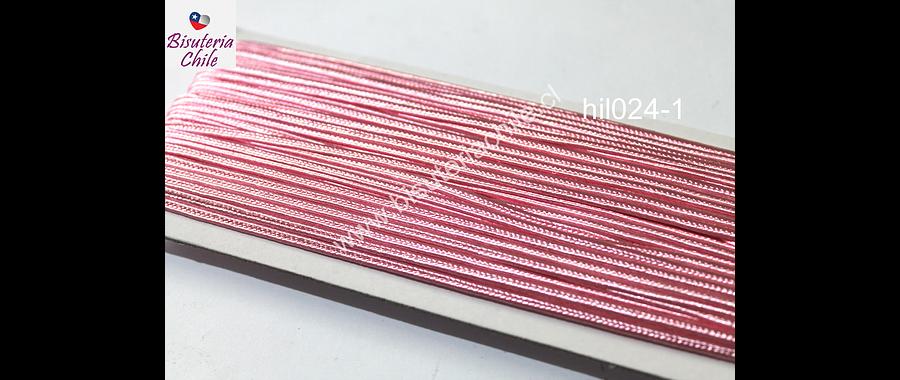 Cordón Soutache color rosado, 3 mm, rollo de 30 mts.