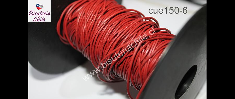 Cuero color rojo ladrillo de 1 mm, por metro