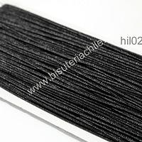 Cordón Soutache color negro, 3 mm, rollo de 30 mts.