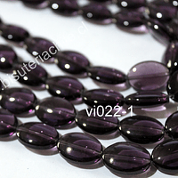 Vidrio color lila tamaño de 18 x 13 mm, agujero de 1,5 mm, tira de 20 unidades