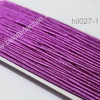 Cordón Soutache color morado, 3 mm, rollo de 30 mts.
