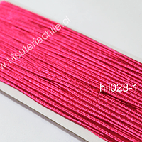 Cordón Soutache color fucsia, 3 mm, rollo de 30 mts.