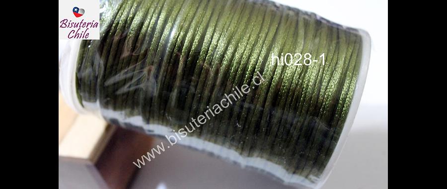 Cola de ratón verde musgo, rollo de 100 mts, 2 mm de grosor.