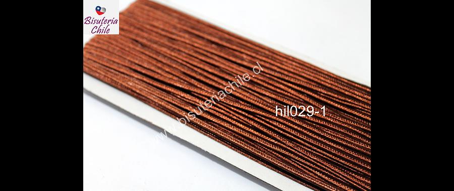 Cordón Soutache color café, 3 mm, rollo de 30 mts.